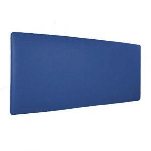 Silcar Home - Cabecero de Cama Tapizado en Polipiel Liso, Modelo Jep (Azul, 145 cm) | Cabecero Acolchado | Cabezal Tapizado | TNT Transpirable | Cabecero Original | Transporte Incluido 4