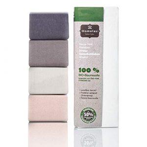Hometex - Sábana bajera ajustable de hasta 25 cm de altura, 100 % algodón orgánico, 140 g/m2, de alta calidad, certificado Öko-Tex Standard Green 100, Algodón orgánico., Blanco, 90x190 - 100x200 cm 9