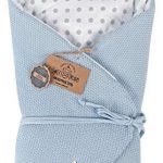 Almohada de lactancia 100% algodón 75 x 75 cm - Doble cara - Suave - Multifuncional - Hipoalergénico - Super suave 1024 Manta para bebé (Azul/puntos) 14