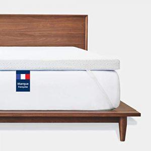Mello - Cubrecolchón con memoria de forma | sobre colchón de espuma con memoria de forma, transpirable, funda extraíble y lavable de bambú hipoalergénica, antideslizante, 180 x 200 cm 7