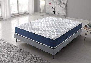 Colchón Reversible 120x190 cm Real Confort | Altura +/- 25 cm | Doble Cara Invierno/Verano con Sistema Visco Soft Adaptable | Alta Densidad | Sistema multicapas | 9 Zonas de Descanso 8