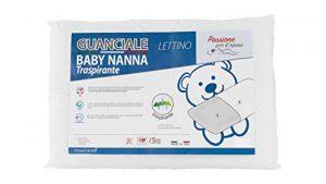 Baby Nanna - Cuna almohada para bebé de algodón, 100 % italiano, hipoalergénica, cojín antiasfixia ideal para cuna de bebé y cuna de bebé. Transpirable y antibacteriana, talla 40 x 30 cm. 3