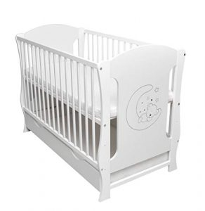 Cuna de bebé con cajón convertible, sofá con colchón incluido, 120 x 60 cm, color blanco 2