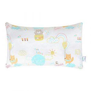 Yoofoss Almohada para niños Almohada para bebés con funda 45x26 cm Antiácaros Lavable Almohada Suave para Niños bebés y recién nacidos La Cabeza Apto para 1-6 Años 3