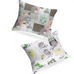 JUNIO Pack de 2 Almohada Para Niños de Micro esferas finas, Almohada relleno de Fibra hueca recubiertos de silicona lavable 30x40 cm, Funda de almohada para bebé de algodón 18