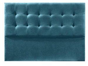 Cabecero de Cama, Modelo Lisboa, tapizado en Tela Nido Aqualine Antimanchas. Altura 120 cm. Grosor 8 cm. Ancho Desde 90 a 220cm.Color Azul. para Cama de 150 (Medidas 160x120x8) Pro Elite. 3