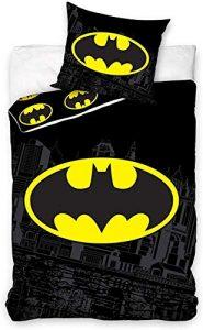 Carbotex – BAT8004 – Juego de cama individual de Batman Logo funda nórdica y funda de almohada - 100% algodón -140 x 200 cm y funda de almohada 50 x 75 cm 5