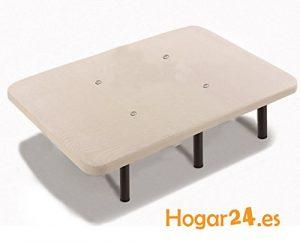HOGAR24 Base TAPIZADA + 6 Patas DE Metal con Tejido 3D Y VÁLVULAS DE TRANSPIRACIÓN-105x180cm-PATAS 32CM 4