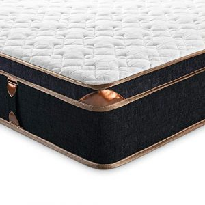 BedStory - Colchón de muelles (28 cm) 90 x 190 cm Negro 3