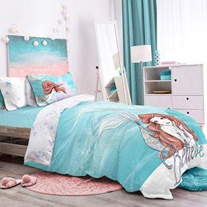 Little Mermaid Believe - Juego de funda de edredón reversible para cama individual 5