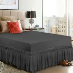 Utopia Bedding Elastic Bed Valance Skirt with Ruffles - Soft Brushed Microfibre Ruffle Drop: 40 cm - (King 150 x 200 cm, Grey) 12
