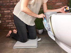 miRio Baby Kneeler • Juego de almohadas para rodillas y almohadas para rodillas de bañera premium, baño antideslizante y cómodo para niños / bebés / perros (gris) 2