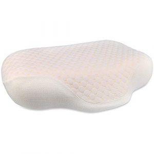 Almohada Cervical, HOSPAOP lmohada Espuma de Memoria Contour Neck Almohada Espuma de Memoria para Dormir, Almohadas ergonómicas ortopédicas para Soporte de Cabeza y Hombros 1