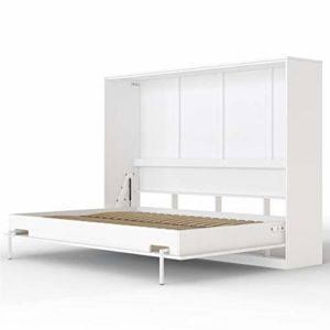 SMARTBett Basic Cama abatible Cama Plegable Cama de Pared (Blanco, 140 x 200 cm Horizontal) 3