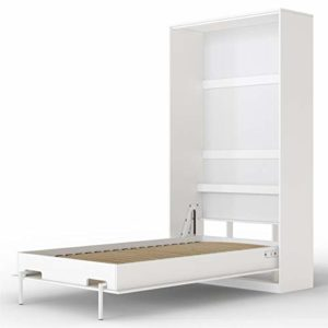 SMARTBett Basic Cama abatible Cama Plegable Cama de Pared (Blanco, 90 x 200 cm Vertical) 10