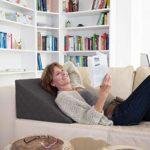 La Almohada Tipo Cuña Fantástica - para Su Sala De Estar o Su Recamara, Almohada para Leer con Un Sentado Relajado Diseño De Moda (Antracita) 17
