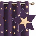 Deconovo Cortinas Dormitorio Moderno Opacas para Ventanas de Habitación Juvenil con Ollados 2 Piezas 140x240cm Púrpura Oscuro 11