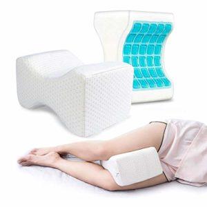 Almohada Piernas Dormir,Almohada Rodillas Ergonomica para Durmientes de Lado Cojín Ortopédico con Almohada Espuma Memoria para Alivia el Dolor en la Espalda,Caderas y Ciática Knee Pillow 7
