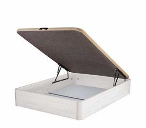 DHOME Canape Abatible Tapizado 3D Grosor 30mm 4 válvulas Maxima Calidad Esquinas canapé Madera (150x190, Ártico) 8