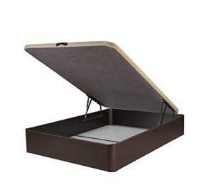 DHOME Canape Abatible Tapizado 3D 4 válvulas Maxima Calidad Esquinas canapé Madera (135x190 Wengué, 22mm) 10