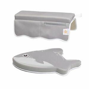 BANBALOO- Protector de codos y rodillas para el baño del bebé. Set de rodillera más almohadilla para descanso del codo en la bañera. 4