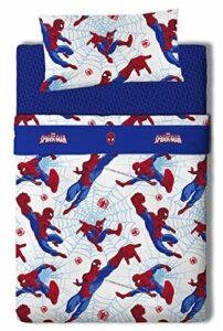 Marvel Spiderman Juego de sábanas, Algodón-Poliéster, Multicolor, Cama 100/110 (Doble), 200.0x105.0x25.0 cm, 3 Unidades 10