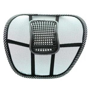 Cojin lumbar silla de oficina ergonomico con soportes para coches. Almohada ortopedica para coxis y corrector de postura de la espalda. Pack de 3. 10